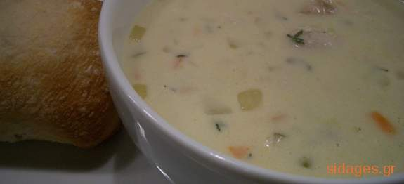 Σούπα κρέμα ρυζιού - www.sidages.gr