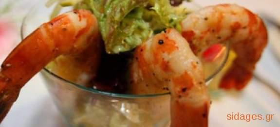 Γαρίδες κοκτέιλ - θαλασσινά - νηστίσιμα - συνταγές μαγειρικής
