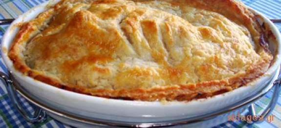Κοτόπιτα με τραχανά - συνταγές μαγειρικής - πίτες