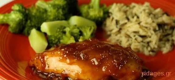 Κοτόπουλο με πορτοκάλι - www.sidages.gr