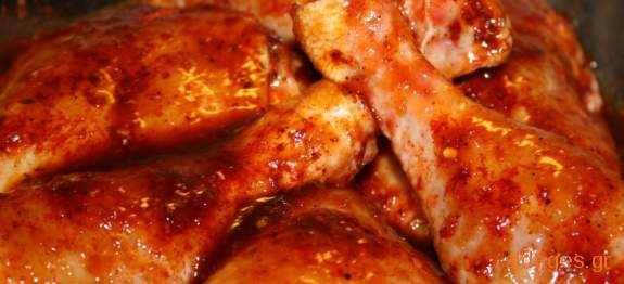 Κοτόπουλο κοκκινιστό Κεφαλλονίτικο