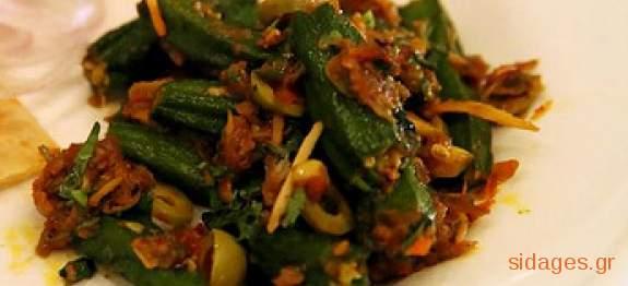 Μπάμιες στο φούρνο - συνταγές μαγειρικής - λαχανικά