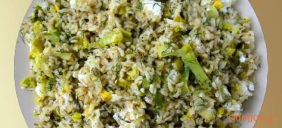 Πρασόρυζο - συνταγή για πρασόρυζο