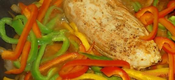 Ψαρονέφρι με πιπεριές