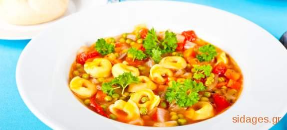 Σούπα με τορτελίνια - συνταγές μαγερικής - www.sidages.gr