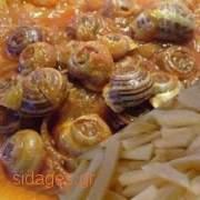 Χοχλιοί κοκκινιστοί - www.sidages.gr