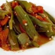 Μπάμιες λαδερές - συνταγές μαγειρικής - λαχανικά