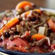 Φακές με ψητά λαχανικά