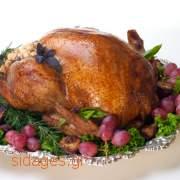 Γαλοπούλα ψητή με δενδρολίβανο - συνταγές μαγερικής - κοτόπουλο