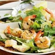 Γαρίδες και σπαράγγια - συνταγές μαγειρικής - Θαλασσινά - νηστίσιμα