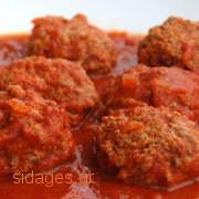 Γιουρβαλάκια με σάλτσα ντομάτας - www.sidages.gr