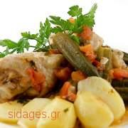 Κοτόπουλο στο φούρνο με μπάμιες - συνταγές για κοτόπουλο