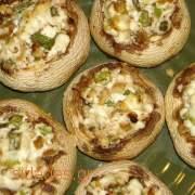 Μανιτάρια γεμιστά με τυρί παρμεζάνα