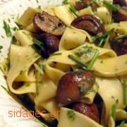 Ταλιατέλες με μανιτάρια και φέτα - www.sidages.gr