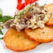 Πατάτες στο τηγάνι με γκούντα - συνταγές μαγειρικής & ζαχαροπλαστικής