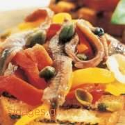 Πιπεριές ψητές με αντσούγιες - www.sidages.gr