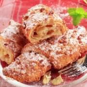 Ρολά σφολιάτας με καρύδια συνταγές μαγειρικής & ζαχαροπλαστικής- www.sidages.gr