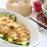 Tηγανητό ρύζι με αυγό και κοτόπουλο - www.sidages.gr