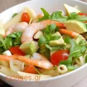 Ζυμαρικά με γαρίδες και αβοκάντο - συνταγές μαγερικής - www.sidages.gr