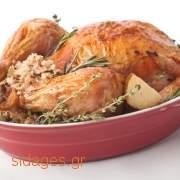 Γαλοπούλα γεμιστή με κάστανο  - www.sidages.gr