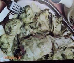 Αρνί με αγκινάρες αυγολέμονο - www.sidages.gr