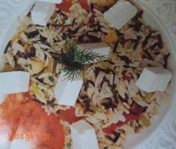 Μπασμάτι και άγριο ρύζι με φρέσκο κρεμμυδάκι - www.sidages.gr