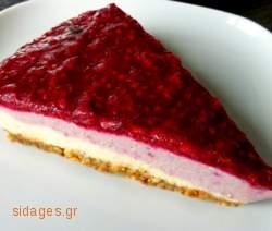 Cheesecake με λευκή σοκολάτα και βατόμουρα - συνταγές ζαχαροπλαστικής