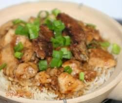 Κοτόπουλο και ρύζι με καρύδια - www.sidages.gr