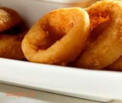 Τηγανιτά δαχτυλίδια κρεμμυδιών - Onion rings - συνταγές μαγειρικής