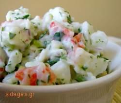Καβουροσαλάτα - θαλασσινά - νηστίσιμα - συνταγές μαγειρικής