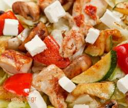 Κοτόπουλο με κεφαλογραβιέρα - συνταγές μαγειρικής & ζαχαροπλαστικής