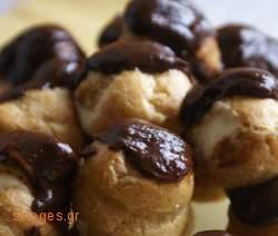 Προφιτερόλ - συνταγές ζαχαροπλαστικής - γλυκά