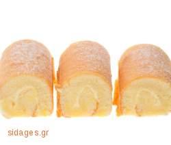Ρολά μαρέγκας με σαντιγί - συνταγές μαγερικής - www.sidages.gr