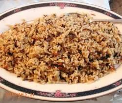 Ρύζι με σταφίδες και κουκουνάρι