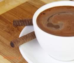 Ρόφημα σοκολάτας με μαρμελάδα κάστανο - σοκολάτα - γλυκά
