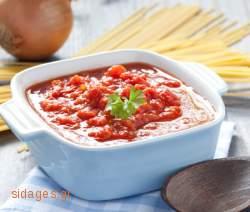 Σάλτσα ντομάτας με βασιλικό - www.sidages.gr