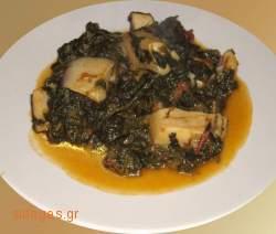 Σουπιές Σπανάκι -  συνταγές μαγειρικής - θαλασσινά