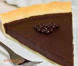 Τάρτα με μους σοκολάτας - συνταγές ζαχαροπλαστικής- σοκολάτα - γλυκά