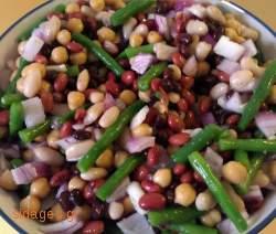 Τραγανή σαλάτα φασολιών - συνταγές μαγειρικής- σαλάτες