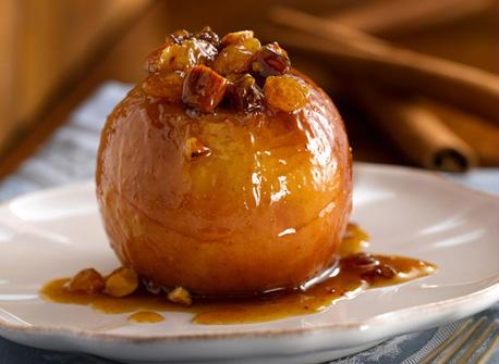яблоко запеченное с орехами фото