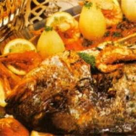 Ψάρι φούρνου σπετσιώτικο - www.sidages.gr