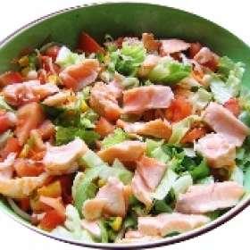 Σαλάτα με καπνιστό Σολομό - Συνταγές μαγειρικής με ψάρι