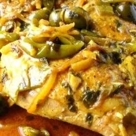 Κοτόπουλο με πιπεριές και ελιές - www.sidages.gr