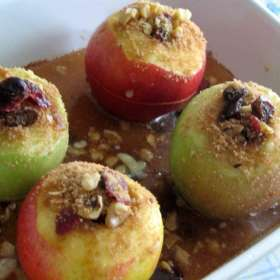 Νηστίσιμα ψητά μήλα