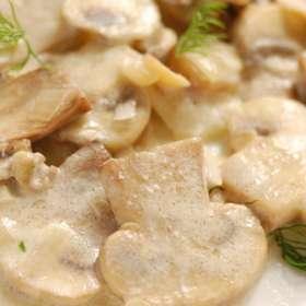 Άσπρη σάλτσα με μανιτάρια - www.sidages.gr