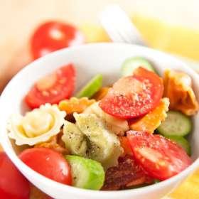 Σαλάτα με τορτελίνια και ντομάτα - συνταγές μαγερικής - www.sidages.gr