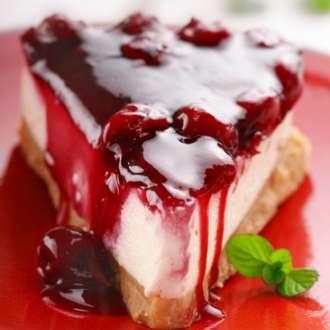 Τσιζκέικ (Cheesecake) με βύσσινο κομπόστα - συνταγές μαγερικής - www.sidages.gr