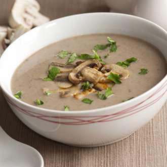 Σούπα με μανιτάρια