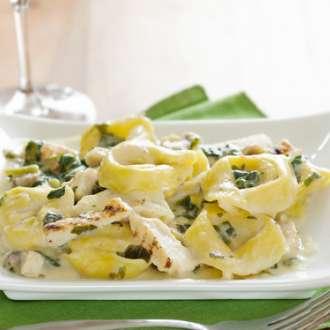 Τορτελίνια με μανιτάρια και κρέμα - συνταγές μαγερικής - www.sidages.gr