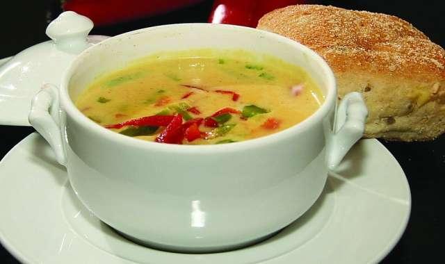 Σούπα καλαμπόκι με μυρωδικά